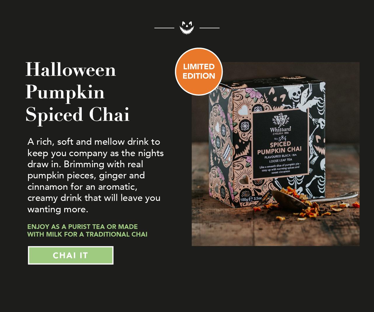 Halloween Pumpkin Spiced Chai